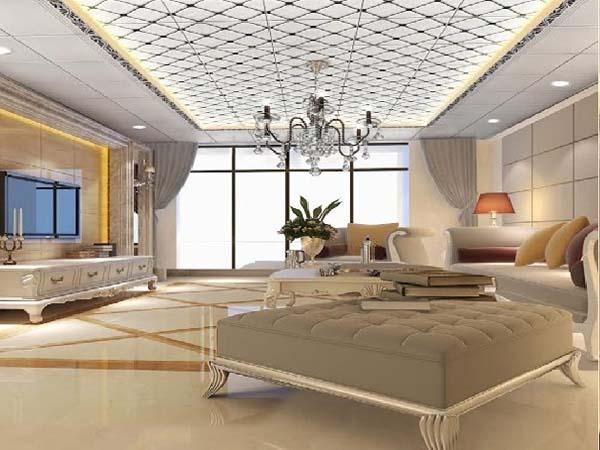 Trần nhôm phù hợp với thiết kế nội thất hiện đại