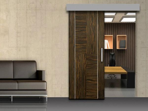 Phân tách căn phòng chức năng bạn có thể dùng một đến hai tấm cửa gỗ công nghiệp trượt