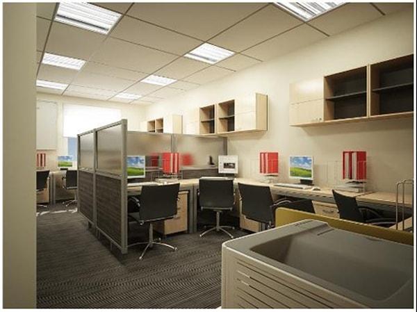 Phòng làm việc nhỏ nên chú ý kết hợp các món nội thất với nhau