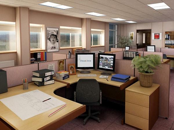 Sử dụng sơn tường màu sáng sẽ tạo cho không gian làm việc trở nên được sáng hơn.