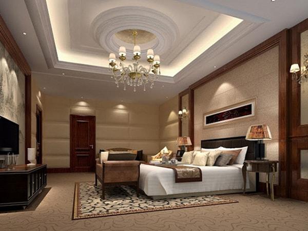 Trần thạch cao phòng ngủ theo phong cách cổ điển