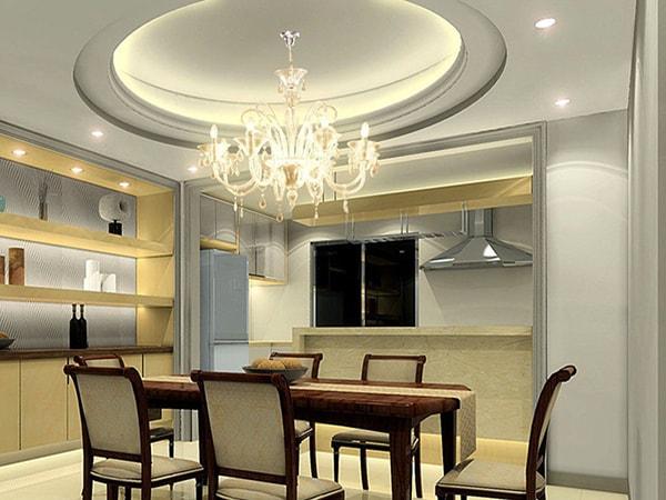 Trần thạch cao phòng ăn theo phong cách cổ điển