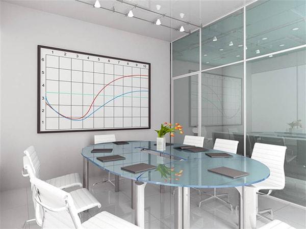 Thiết kế không gian mở thông thoáng cho văn phòng nhỏ với vách ngăn