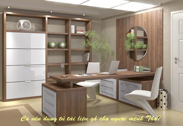 Chọn tủ tài liệu gỗ cho người mệnh Thổ