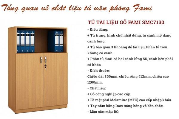 Tủ văn phòng Fami làm bằng gỗ công nghiệp cao cấp