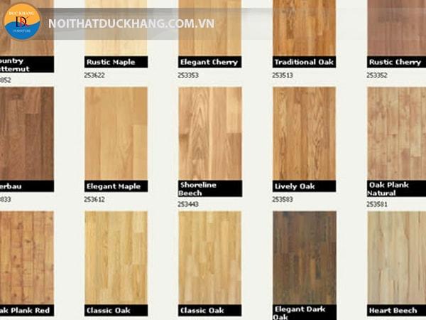 Những loại sàn gỗ công nghiệp được sử dụng phổ biến 2017