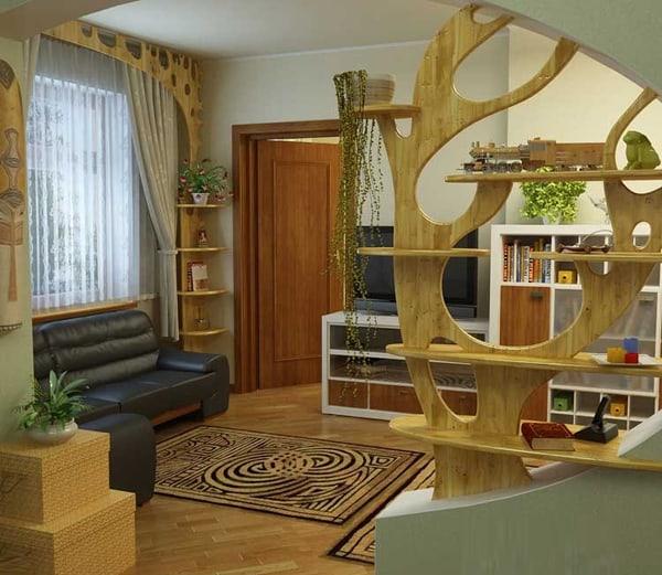 Vách ngăn gỗ được thiết kế độc, lạ tạo không gian mới cho căn nhà