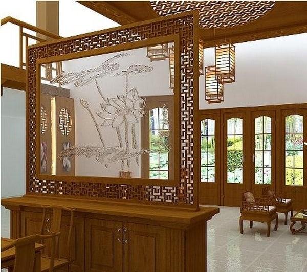 Vách ngăn gỗ được làm từ gỗ tự nhiên