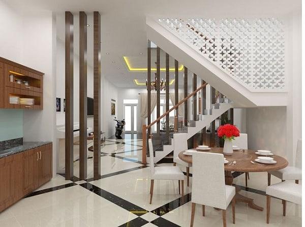 Ngôi nhà được kết hợp với nhiều vách ngăn cầu thang khác nhau