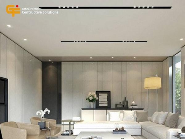 Bạn nghĩ sao về mẫu trần thạch cao cho phòng khách này