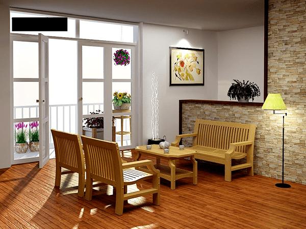 Sàn gỗ công nghiệp dược nhiều gia đình sử dụng cho phòng khách