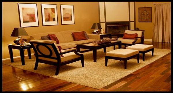 Gia chủ mệnh Thổ có thể sử dụng sàn màu nâu cho phòng khách