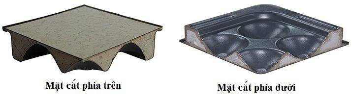 Mặt cắt sàn nâng chống tĩnh điện