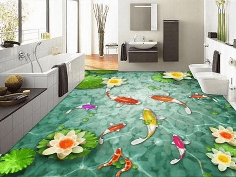 Gạch 3D tạo không gian thư giãn thư giãn trong căn phòng