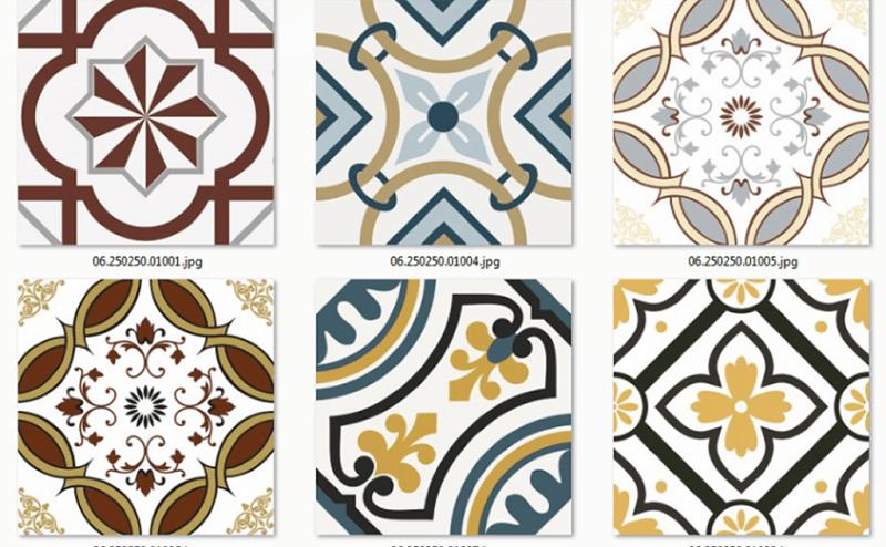 Gạch bông có nhiều màu sắc, kiểu dáng để lựa chọn