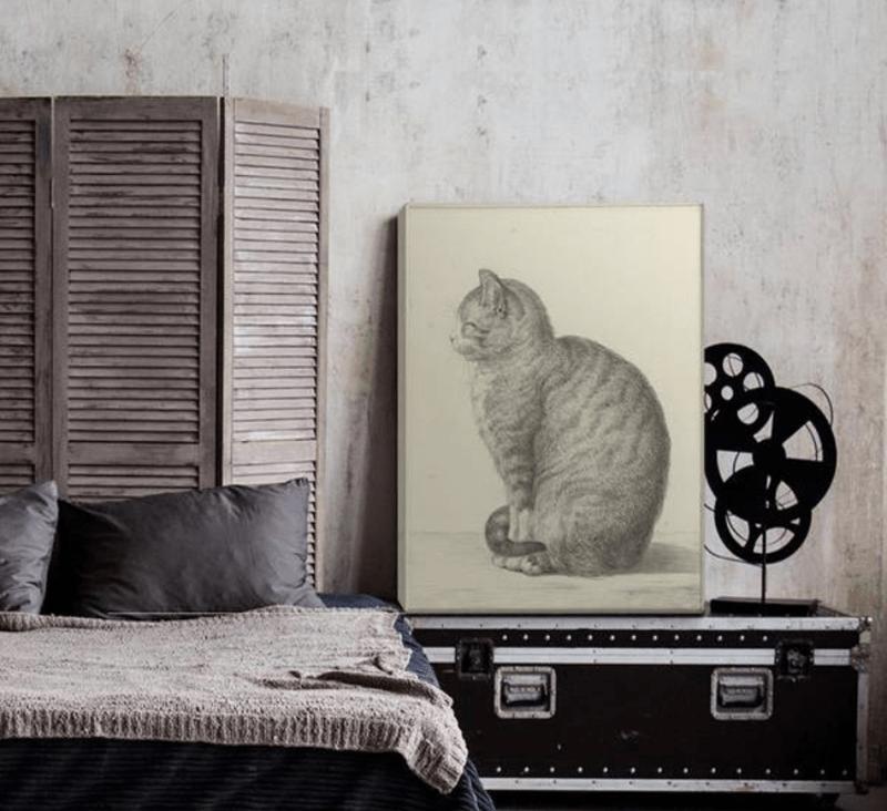 Tranh mèo phù hợp với người mệnh Mộc