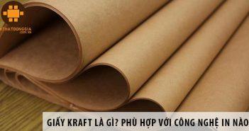 Giấy Kraft là gì? Phù hợp với công nghệ in nào?