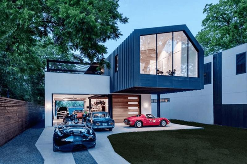Mẫu thiết kế nhà biệt thự có chỗ để xe ngoài nhà