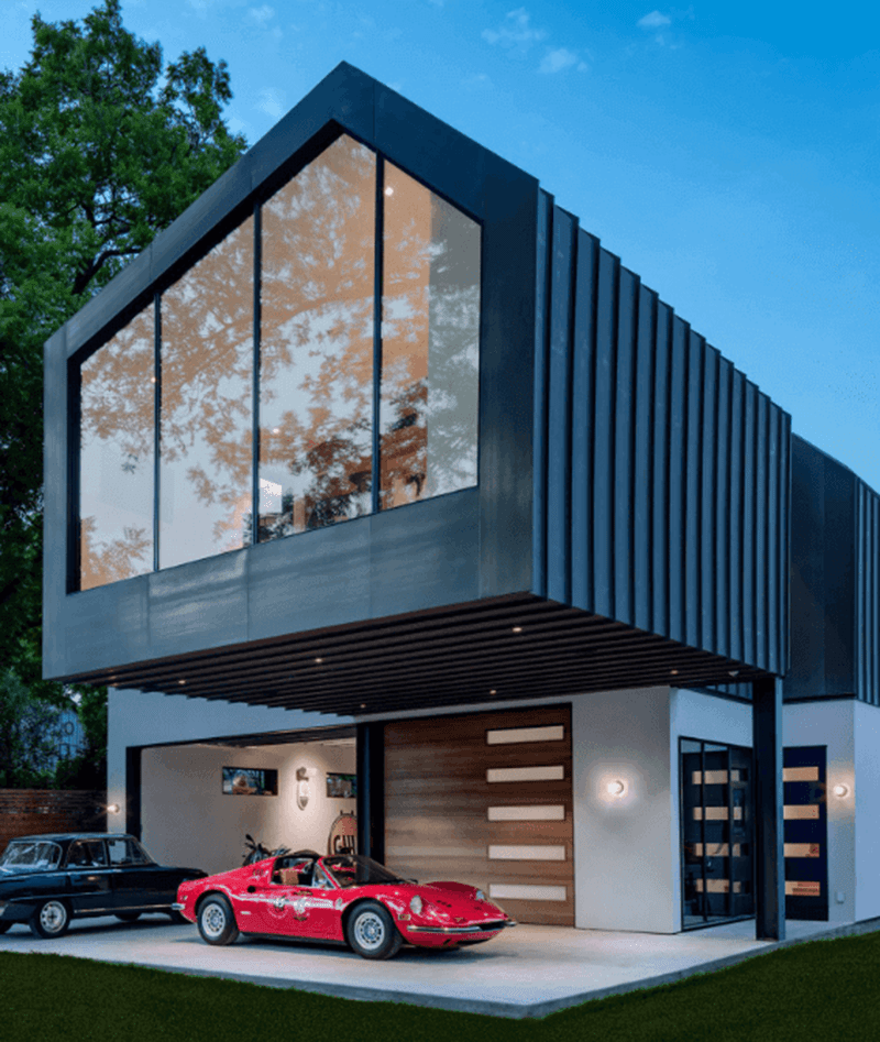 Mẫu thiết kế biệt thự có gara phong cách container