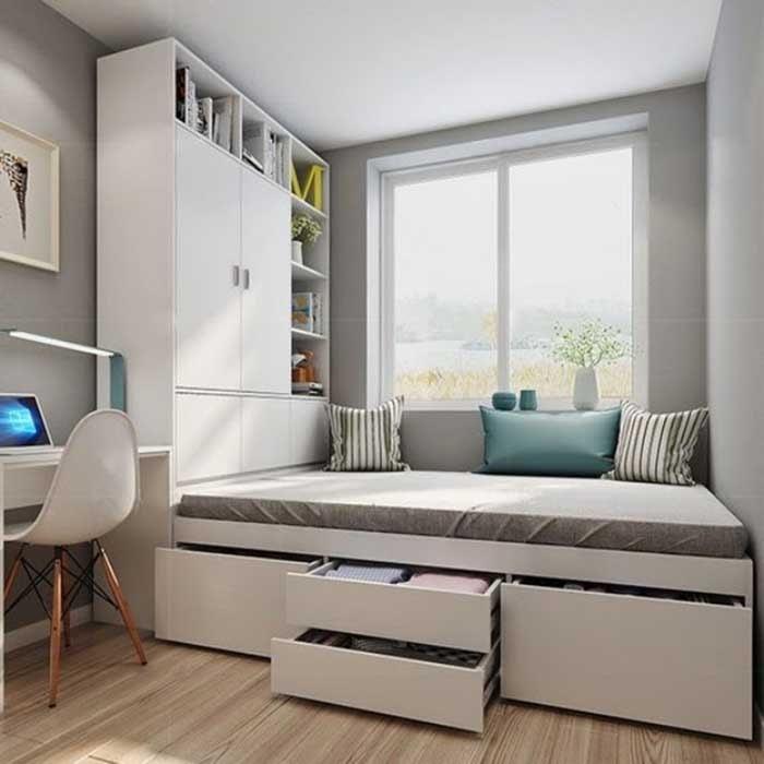 Bộ giường ngủ và tủ phòng ngủ từ gỗ tự nhiên đẹp mắt